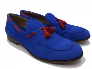 Men's Blue Mocassins