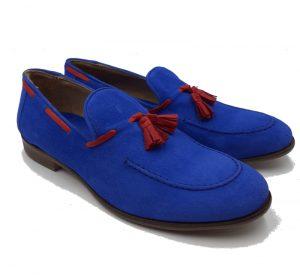 Men's Blue Mocassins