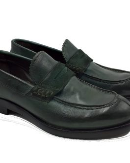 womens green calfskin mocassins