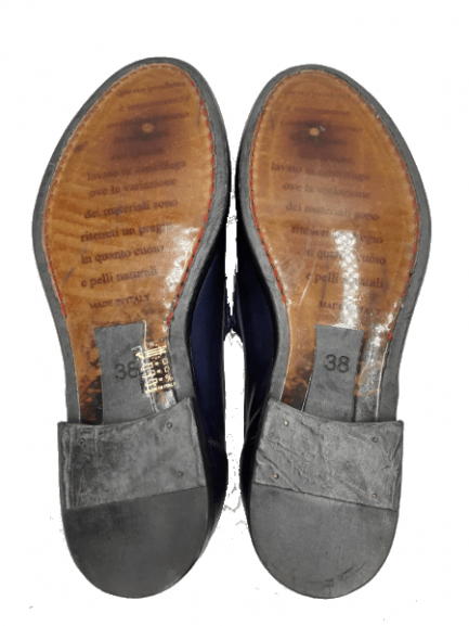 womens navy calfskin mocassins