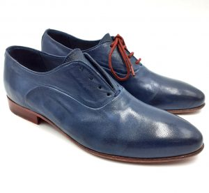 Blue-Leather-Flats-Side