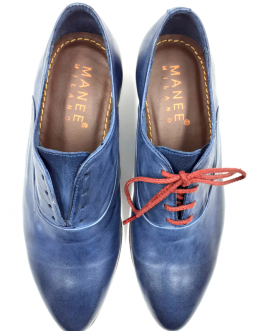 Blue-Leather-Flats-front